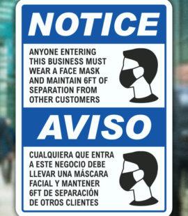 COVID Mask Notice