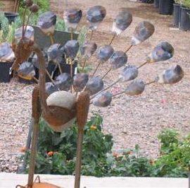 Iron Art Peacock