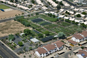 Aerial view of Elgin Nursery